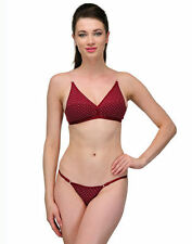 Urbaano Captivating Maroon Bikini Bra & Panty Set - UR7092S