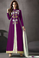 Festival Wear Purple Georgette Slit Anarkali Suit - 70789