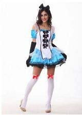 Cosplay Alice in Wonderland Costume Maid Lolita Dress for Halloween Party