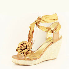 WOMENS LADIES PLATFORM ANKLE STRAP WEDGE HEEL SANDALS ESPADRILLES SHOES SIZE 3-7