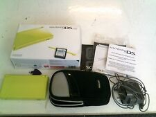 Nintendo DS Lite Lime Green Console, Boxed With Charger, Case & Game, Bundle