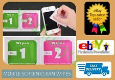 * For iPhone 7 * Mobile Phone Screen Finger Print Dust Smudge Cleaner Wipes