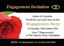 Personalised Engagement Invites Engagement Party Invites with Envelopes