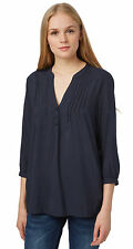 Tom Tailor Denim Damen Shirt / Blouse Tunika-Bluse mit Biesen NEU