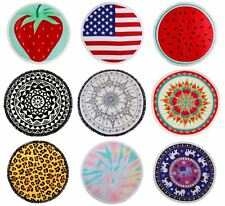 Watermelon Beach Round Towel Large Microfibre Cotton Bath Holiday Travel UK