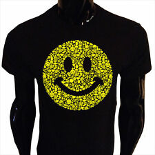 Smiley Face T-Shirt Mens S-5XL Smily Happy Acid Rave House Peace SF1