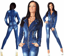 Sexy New Women's Denim Jeans Wash Playsuit Jumpsuit Overall Skinny Slim C 707