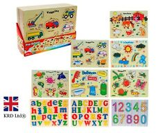 WOODEN PUZZLE Jigsaw Kids Child Learning Educational Toy Birthday Christmas Gift