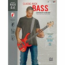 Alfred Alfred's Rock Ed.: Classic Rock Bass Vol. 1 Book & CD-ROM