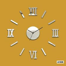DIY 3D Roman Numbers wall Clock Home Decor Wall Sticker-Laser Craft Store -A1028