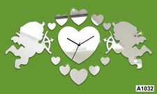 Home Décor Love Engel DIY Wall clock Multi color -LaserCraftStore-A1032
