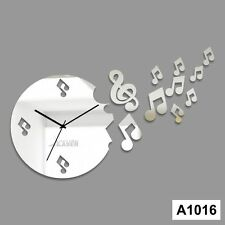 Musical symbols Designer wall clock stickers - LCS-A1016 Multi color
