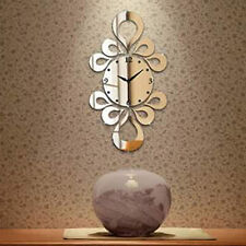 DIY 3D Acrylic flower shape Designer wall clock Multicolor-LaserCraftStore-A1054