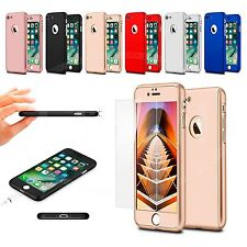 For Samsung Galaxy S7 Duos Dual SIM Hard Case 360 Dual Layer & Tempered Glass