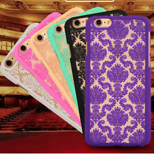 Case Cover for iPhone 5/5S 6/6S Hard Back Damask  with FREE Screen Protector