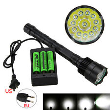 35000LM 12X XML-T6 5 MODE Tactical LED Caza Linterna Antorcha Torch 18650 Lamp