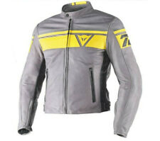 Chaqueta Dainese Blackjack piel humo amarillo negro amarillo moto leather jacket