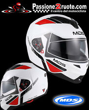 casco modular agv mds md200 traveler blanco rojo casco helm casco TALLA XL