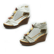WOMENS LADIES PLATFORM STRAPPY WEDGE HEEL AGRYLE DETAILS SANDALS SHOES SIZE 3-8