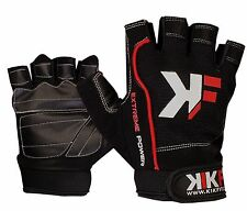 KIKFIT Cycling Gloves Half Finger Bike Bicycle Fingerless Cycle Riding Mitts Gym