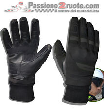 Guantes moto scooter Jollisport span negro softshell protecciones impermeable