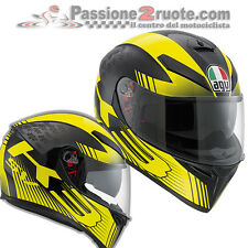 casco Agv k3 Mirada sv black metal amarillo moto integral helm Casco
