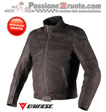 Chaqueta Dainese Black Hawk piel marrón oscuro dark Marrón moto leather jacket