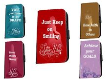Disney Princess Quotes Rapunzel Inspired leather phone case for iphone Samsung
