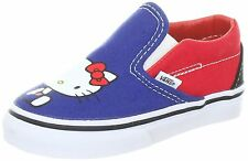 Kids Vans Hello Kitty Classic Slip On VN-0QFB66W Blue Red 100% Authentic B. New