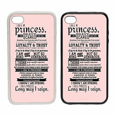 I Am A Princess - Rubber and Plastic Phone Cover Case - Movie ,