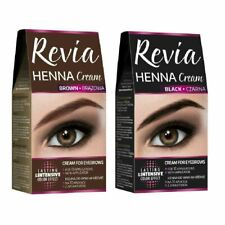 Verona Revia Henna Cream Black Brown Eyebrow Lashes 10 Applications Kit Tint