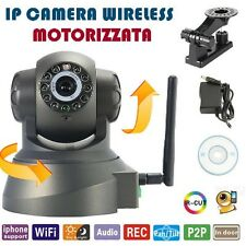 TELECAMERA IP CAMERA CAM WIRELESS INFRAROSSI 10 LED LAN MOTORIZZATA WI FI