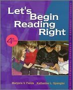 Let*s Begin Reading Right - A Developmental Approach to Emergent Literacy