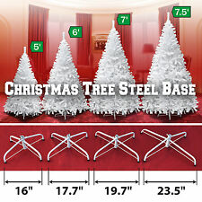 Steel Base Metal Stand for 5/6/7/7.5ft Christmas Tree White Xmas Decor