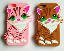 Super Cute 3D Cat Kitten Kitty Silicone Phone Case Cover Fits iPhone 5 / 5S