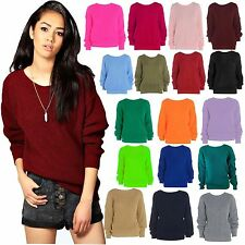 New Ladies Womens Oversized Baggy Knitted Jumper Chunky Sweater Plus Size 8-26