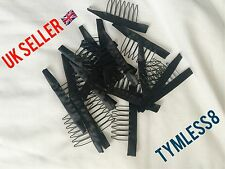 Black Wig Comb / Clips For Wig Caps And Wig Making (New)