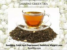 Premium Chinese Jasmine Mao Feng Green Tea 50 GRAMS TO 250 GRAMS Recipe inside