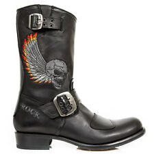 New Rock M.GY32-S1 ITALI BLACK, ITALI BLACK, GREY EMBROIDERY WINGS FIRE boots