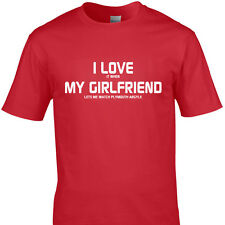 I LOVE IT WHEN MY GIRLFRIEND LETS ME WATCH PLYMOUTH ARGYLE funny t shirt