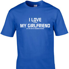 I LOVE IT WHEN MY GIRLFRIEND LETS ME WATCH TRANMERE ROVERS  funny t shirt