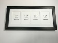 Multi App Photo Frame Black-Holds 4 x 6''X4'' Choose from 4 mount colours
