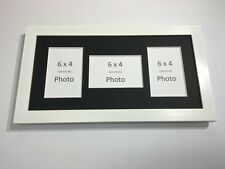 Multi App Photo Frame White-Holds 3 x 6''X4'' Choose from 4 mount colours
