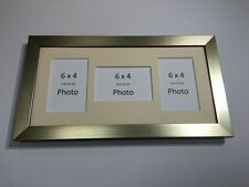 Multi App Photo Frame Gold-Holds 3 x 6''X4'' Choose from 4 mount colours