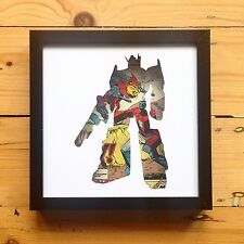 Transformers Silhouette Wall Art Picture Autobots Decepticons Papercut Framed
