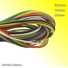 Hook up Circuit Wire 16/0.2 7/0.2 1/0.6 Choose Colour 5 Metres or Longer