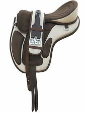 """All Purpose Treeless Freemax Synthetic Saddle 16"""", 17"""", 18"""" BEIGE BROWN"""