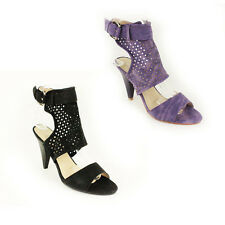WOMENS LADIES SUMMER SLING BACK HIGH HEEL ANKLE COURT SHOES SANDALS SIZE 3-8