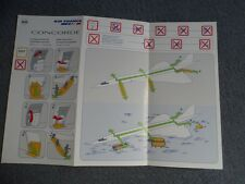 Air France Concorde Last Issued Safety Card March 2002 Rare