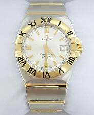 OMEGA Double Eagle 18K Gold & Stainless Steel Perpetual Quartz Watch Large 38mm